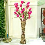 Напольная плетеная ваза из роганта, фото 6