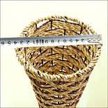 Напольная плетеная ваза из роганта, фото 7