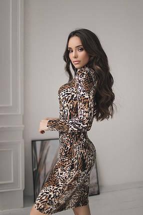 Леопардовое платье-гольф, фото 2