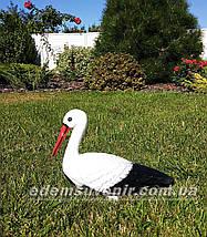 Садовая фигура Семья садовых аистов для гнезда №14, фото 2