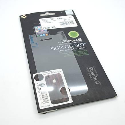 Декор. наклейка Spigen Wood Set Package iPhone 4/4S Camagon, фото 2