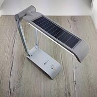 Настольная лампа светодиодная YJ-5852RT на с солнечной батареей для школьника ребенка аккумуляторная