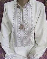 Купить класичечкую вышиванку Любомир на домотканом полотне