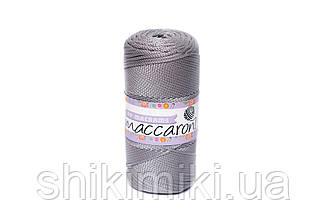Трикотажный полиэфирный шнур PP Macrame,цвет светло-серый