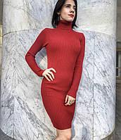 Платье гольф 42-48 красное, фото 1