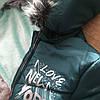 Зимнее детское пальто для девочки с бубонами на карманах, фото 7