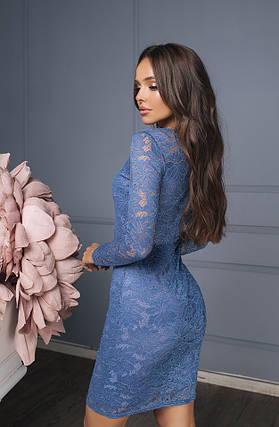 Платье футляр из гипюра, фото 2