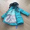 Зимний детский пуховик для девочки хорошего качества интернет магазин, фото 2