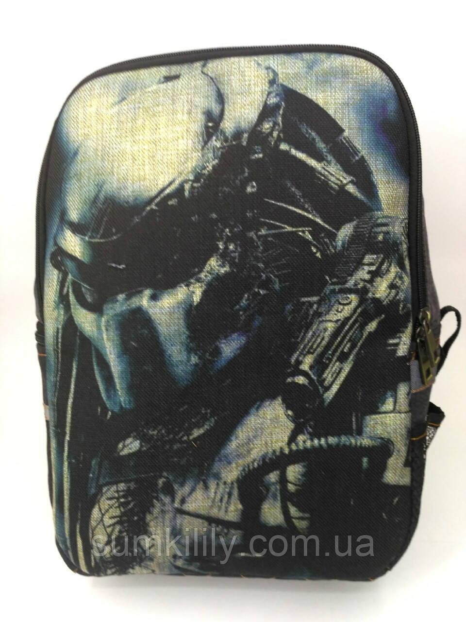 Джинсовый рюкзак Хищник 3