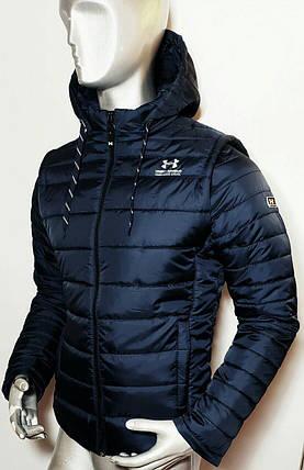 Мужская куртка Under Armour с отстегивающимися рукавами (трансформер) , фото 2