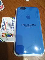 Чехол накладка Silicone case для iPhone 6 / 6S Plus, № 3 blue