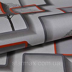 Обои бумажные, серые, квадрат, дерево, Нелми 1373,  0,53*10м
