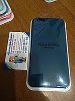 Чехол накладка Silicone case для iPhone 6 / 6S Plus, № 35 mist blue