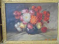 "Картина ""Цветы в кувшине""  неизвестного художника, фото 1"