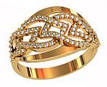 Кольцо  женское серебряное Diamond pattern 111 850, фото 2
