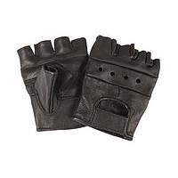 Перчатки Mil-Tec кожаные без пальцев байкерские