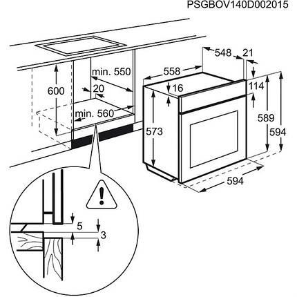 Духовой шкаф ELECTROLUX EOB 93450AX, фото 2