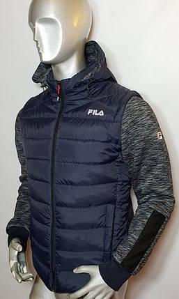 Мужская куртка Fila с отстегивающимися рукавами (трансформер) , фото 2