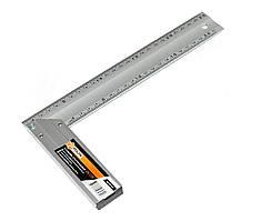 Угольник алюминиевый по 2 шкалы на 2x сторонах Polax 45 см 38-021
