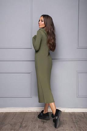 Длинное трикотажное платье, фото 2