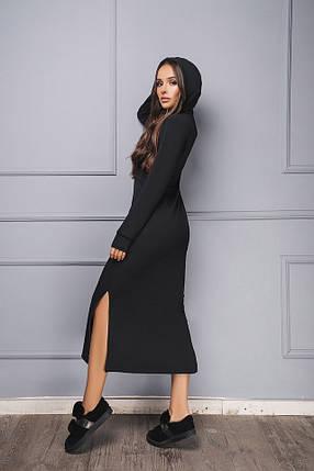 Платье черное длинное с капюшоном, фото 2
