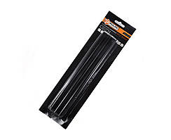 Стержни клеевые черные 11,2 х 200 мм 6 шт Polax 32-008