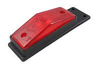 Габаритный фонарь для грузовика красный (95х34мм) с кронштейном