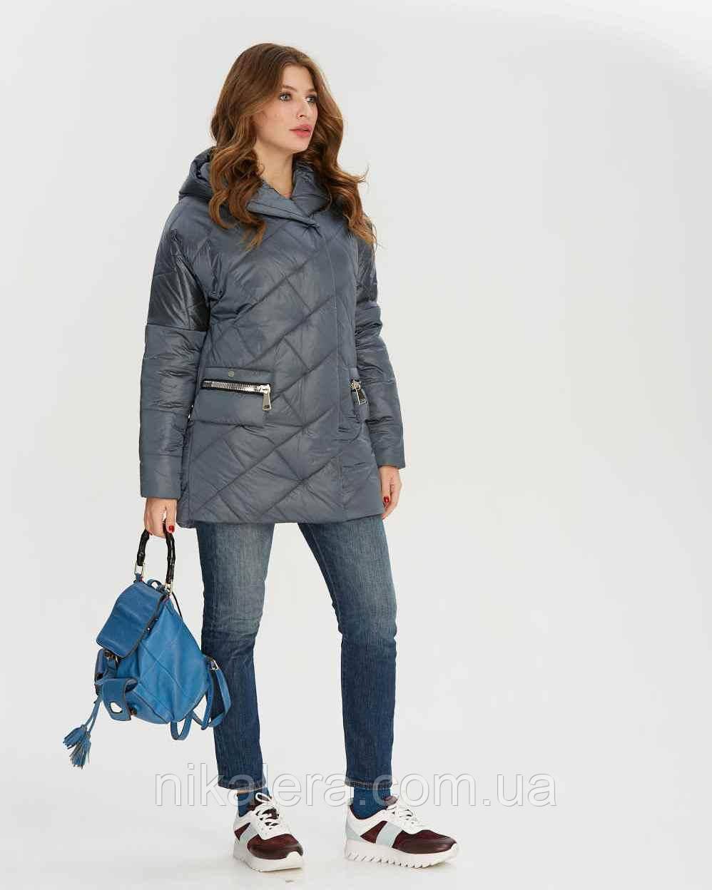 Стеганная куртка атласная с пропиткой рр 44-56