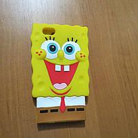 Силиконовый чехол Cпанч Боб для iPhone 5/5s