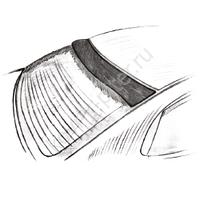 Дефлектор заднего стекла MITSUBISHI Lancer X 2007 (на скотче)