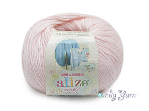 Alize Baby Wool, Светло-розовый №184