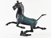 Статуэтка Бронзовая. Лошадь. Летящая (37х32х9 см) oxid&blue