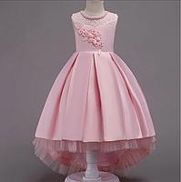 Платье розовое бальное выпускное нарядное для девочки в садик или школу