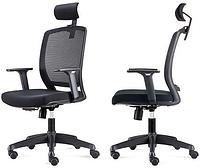 Офисное кресло с регулируемыми подлокотниками Акцент черный
