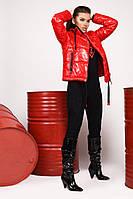 Модная демисезонная молодежная Куртка ТМ x-woyz 8834 Размеры 46 Цвет красный