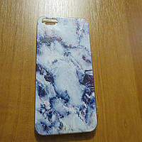 Силиконовый чехол белый мрамор iPhone 5/5s