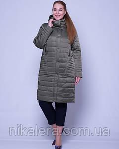 Демисезонная куртка атласная с пропиткой рр 46-58