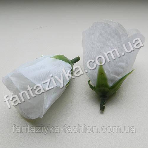 Бутон розы искусственный белый 5см
