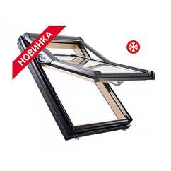Двокамерне мансардне вікно ROTO Designo R79 H WD з криптоном Двокамерне мансардне вікно Рото R79 Двокамерний, Криптон, 74*160 см