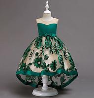 Платье зеленое бальное выпускное нарядное для девочки в садик или школу, фото 1
