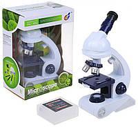 Детский научный набор белый Микроскоп с аксессуарами