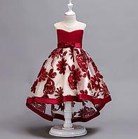 Платье красное бальное выпускное нарядное для девочки в садик или школу, фото 1