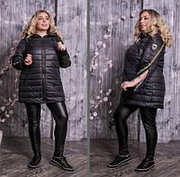 Куртка стьобаний з рукавами на блискавках, з 42 по 82 розмір, фото 1