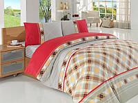 Комплект постельного белья Altinbasak ранфорс печатный Marbella Евро