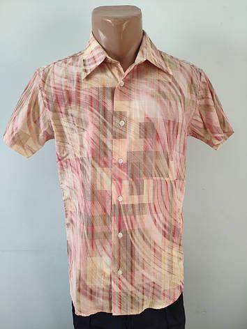 Рубашка мужская летняя коттоновая  высокого качества GELIX, Турция, фото 2