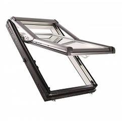 Двокамерне пластікові мансардне вікно ROTO Designo R79 K WD з криптоном Двокамерне мансардне вікно Рото R79 ПВХ, 65*118 см