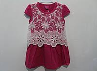 Летнее платье с шитьем 4- 12 лет