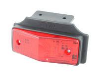 Габаритный фонарь для грузовика красный (95х38мм) с кронштейном