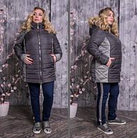 Куртка стеганная с контрастными вставками, с 48 по 82 размер, фото 1