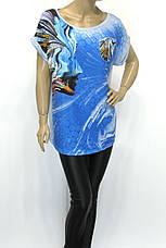 Жіноча футболка туніка з абстрактним принтом, фото 3